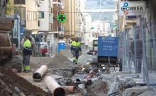 Motril acelera las obras para poder abrir más de la mitad de la calle Ancha el 28 de febrero