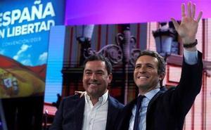 Moreno: «La ola del cambio que ha surgido en Andalucía no se va a parar en Despeñaperros»