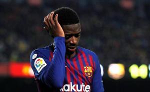 La lesión de Dembélé enturbia el buen momento del Barça