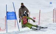 Victoria Díaz, único podio andaluz en la Copa de España de esquí alpino infantil