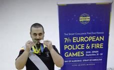 El agente Javier J. Moreno firma dos metales en los Europeos de Policías y Bomberos