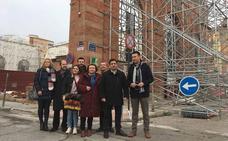 La Diputación ultima las obras de estabilización del mercado de Santiago de Linares