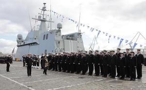 Entrega a la Armada del buque 'Furor'