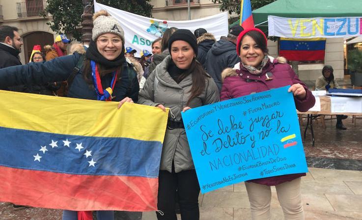 La comunidad venezolana de Granada reconoce a Juan Guaidó como presidente