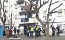 Intervención policial contra los enganches ilegales en Molino Nuevo