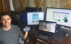 Un graduado en 'teleco' por la UGR idea un sistema para controlar drones con una app