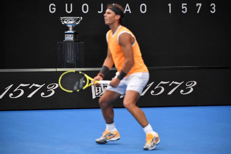 Djokovic-Nadal, la final del Abierto de Australia en imágenes