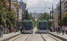 Una avería en el metro de Granada obliga a remolcar un vagón hasta las cocheras