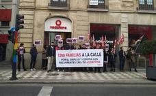 Los trabajadores de Vodafone se echan a la calle contra el ERE anunciado por la empresa