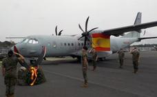 Relevo del contingente español desplegado en Libreville (Gabón)