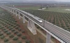 Las primeras imágenes del AVE en Granada a 200 km/h desde dentro y a vista de dron