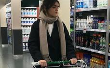 Amaia 'viraliza' su cesta de la compra en Mercadona