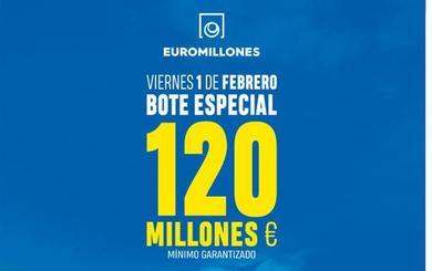 120 millones: el súper bote del Euromillones para este viernes 1 de febrero
