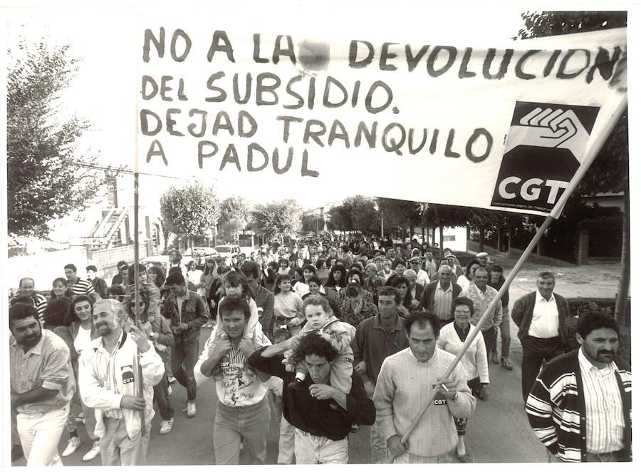 Jornaleros y vecinos de los pueblos de Granada salieron a la calle por el PER en los 90