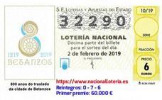 El primer premio de 600.000 euros de la Lotería Nacional toca en Pinos Puente
