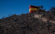 El fuego de Cerro Gordo arrasó con siete hectáreas de matorral