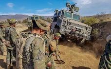Cadetes de Infantería se instruyen en Almería en combate convencional y prácticas de tiro