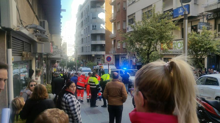 Espectacular accidente de tráfico en Jaén con un herido leve