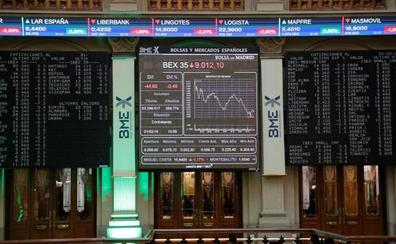 El Ibex-35 termina en los 9.100 puntos gracias a los bancos