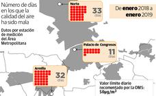 En Granada se superan los límites seguros de calidad del aire una vez cada dos semanas de media