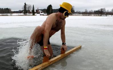 Maratón de baños helados