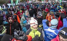 800 corredores participan en el Campeonato de España de snow running en Sierra Nevada