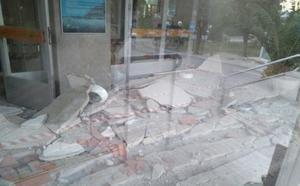 Se derrumba parte del techo de la entrada del Hospital Princesa de Jaén
