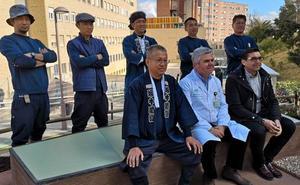 El Hospital de Jaén hace un jardín japonés y sale en la televisión japonesa