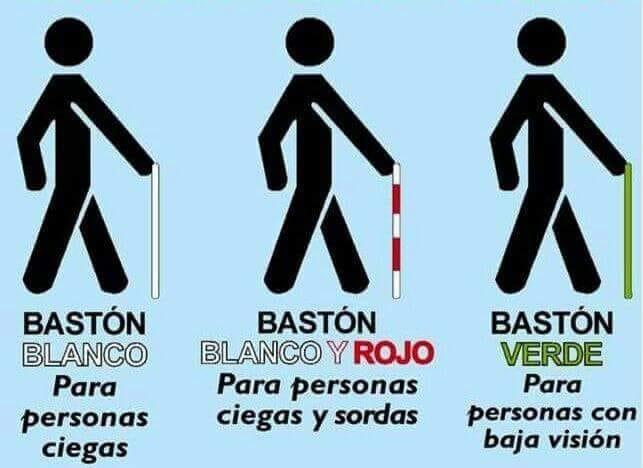 ¿Conoces los colores de los bastones para personas con discapacidad? La Guardia Civil recuerda su importancia