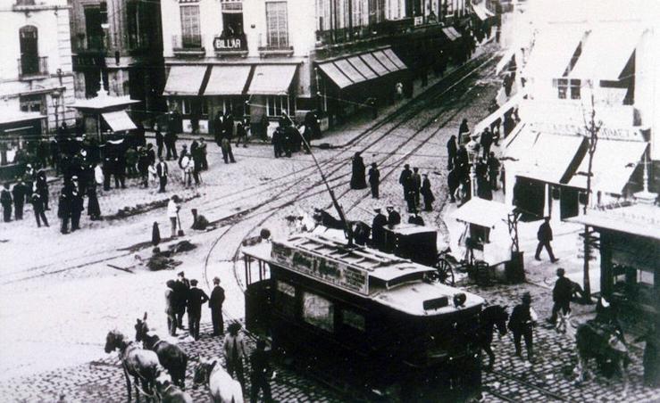 El 14 de febrero circuló el último tranvía por Granada