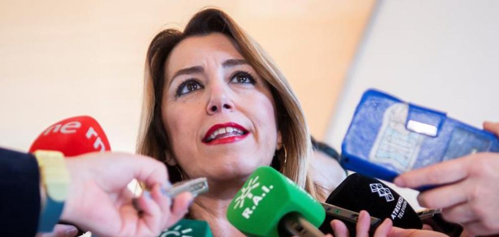 Susana Díaz respalda a Sánchez y llama a la movilización: «Que tomen nota de lo que pasó en Andalucía»