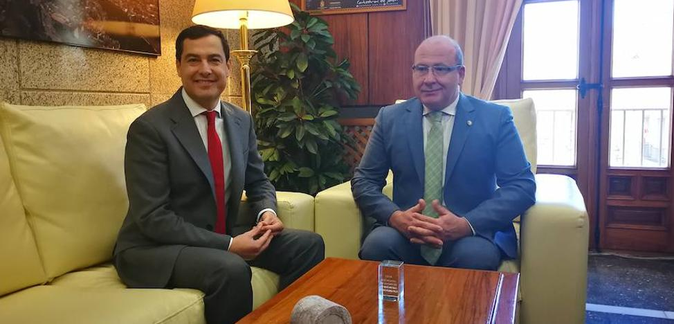 Primera visita del presidente de la Junta a Jaén