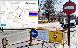 Nuevos cortes de tráfico en Granada por las obras de Emasagra