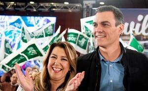 Pedro Sánchez y Susana Díaz exhiben unidad para movilizar el voto frente a «la derecha de la involución»