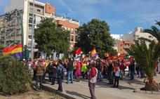 Las imágenes de la llegada de la marcha por la Desbandá