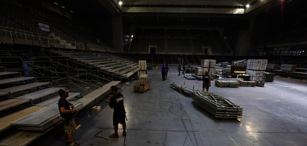 El Palacio Municipal de Deportes se prepara para recibir el X-Trial