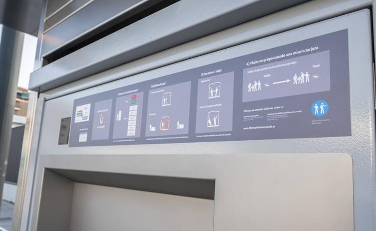 Estos son los cambios en las máquinas del metro de Granada