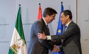 La mayoría de los andaluces prefiere un pacto del PP con Cs a otro de este partido con el PSOE