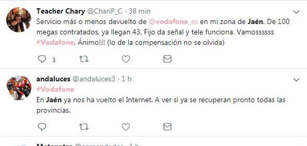 Caída de Vodafone en Jaén durante la madrugada