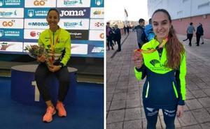 Natalia Romero y Alba Borrero logran el bronce en el Campeonato Absoluto de Pista Cubierta