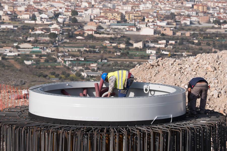 Padul inicia la construcción del molino de viento más grande de Andalucía