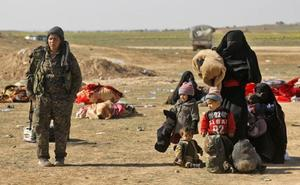 La evacuación de civiles en Baghuz confirma el colapso del califato en Siria