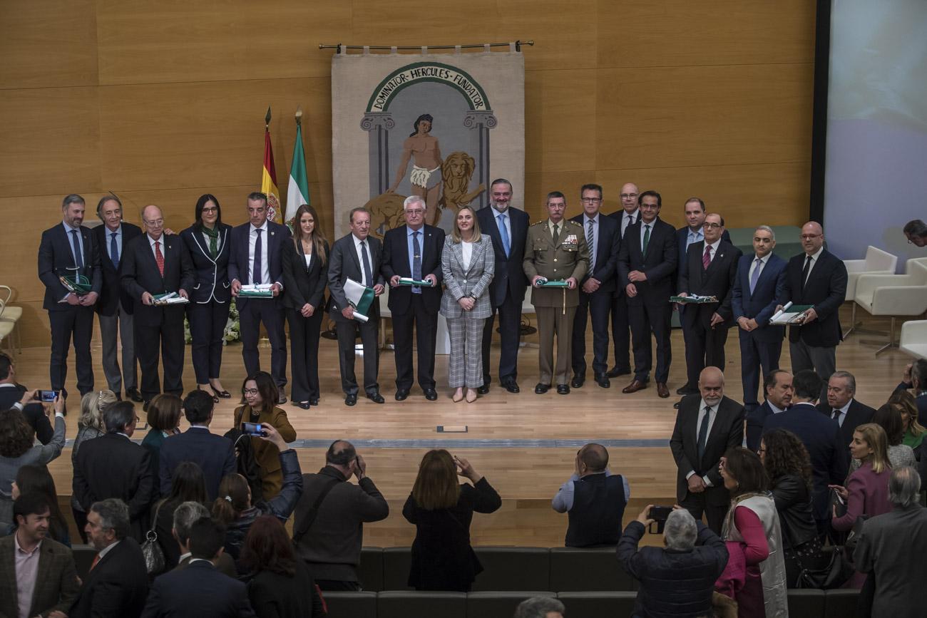 Entrega de las Banderas de Andalucía con motivo del 28F