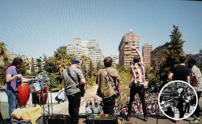 No son los Beatles pero también tocaron en un tejado en Granada