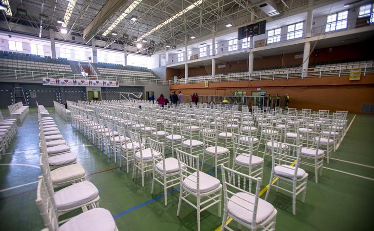 El Pabellón de Deportes de Motril se prepara para la ópera