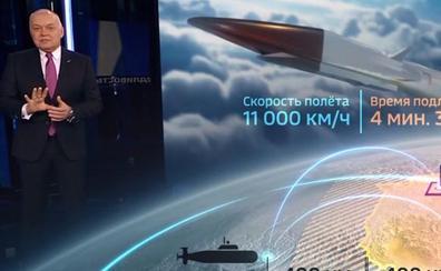 El principal canal público ruso muestra cómo sería un ataque nuclear ruso contra EE UU