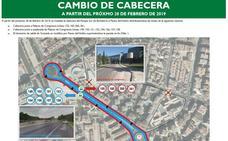 10 líneas de autobuses interurbanos cambian su salida desde el Palacio de Congresos