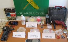 Detenidos por vender heroína, cocaína y crack en Quesada