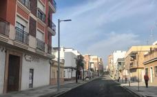 La calle Ancha toma forma y más de la mitad abrirá al tráfico el día 18