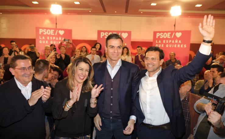 Pedro Sánchez y Susana Díaz respaldan el proyecto del PSOE de Granada